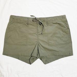 Torrid | Olive Green Stretch Poplin Cargo Shorts